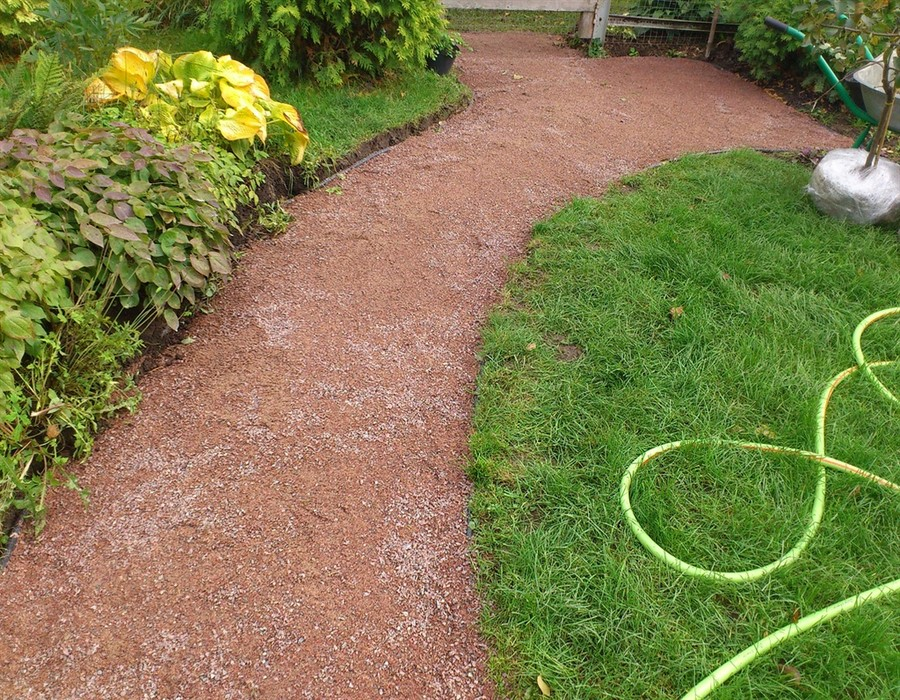 Как сделать садовую дорожку из отсева